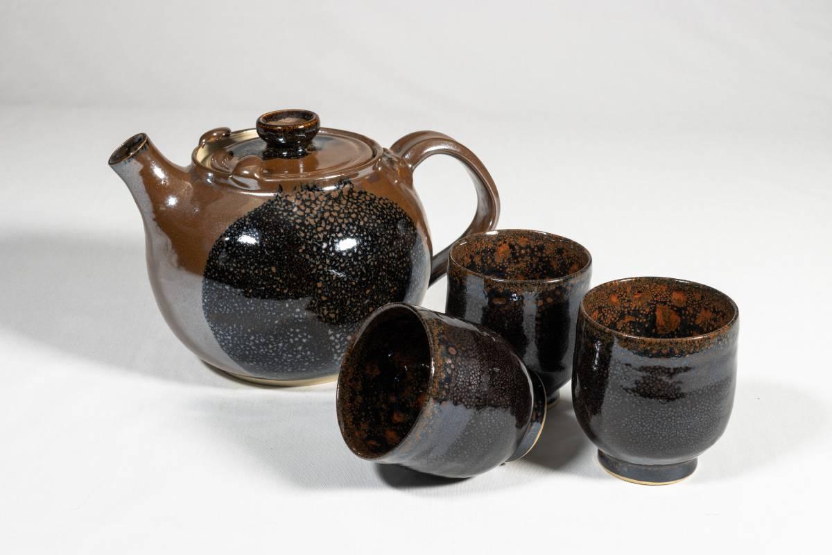 service-à-thé-brun-moiré
