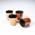 tasses à café brun orange